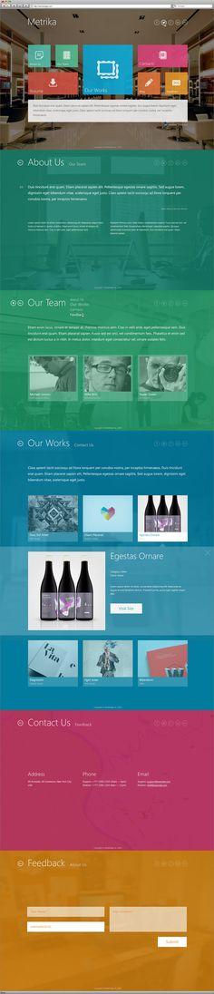 Metrika — Responsive OnePage WordPress Theme by InfoStyle
