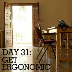 Create an ergonomic workspace for year-round productivity and health!