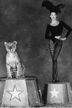 Linda & a tiger.