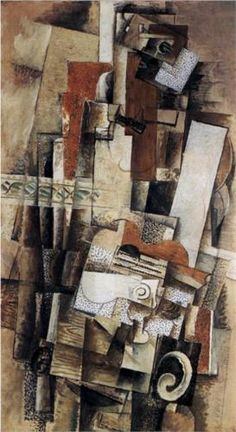 BRAQUE Georges Braque: French painter (1883-1963) CUBISM - man with a guitar
