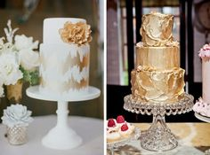 Sparkle & Metallic Wedding Cakes