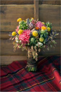 fall bouquet by lush florals and events http://www.weddingchicks.com/2013/12/24/fall-in-love-engagement/