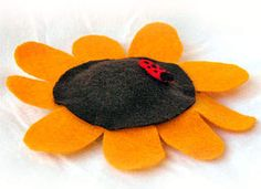 Pillow Craft: Sunflower Pillow Craft - Craft Ideas for Kids - Kids' Crafts - Kaboose.com