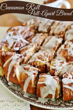 Cinnamon Roll Pull-Apart Bread | One word: AMAZING!! | www.thecountrycook.net