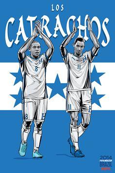 Honduras, Los Catrachos (Xatruch's boys),  Wilson Palacios & Jerry Bengtson, FIFA World Cup Brazil 2014