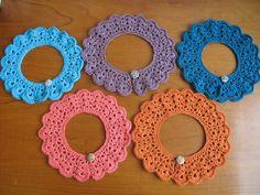 cuellos crochet para niñas ya estoy haciendo unas de colores diferentes Artesana