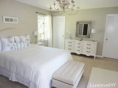 DIY:  Drop Cloth Upholstered Headboard Tutorial - plywood & a $10 drop cloth.  Excellent tutorial & an awesome DIY project!!!