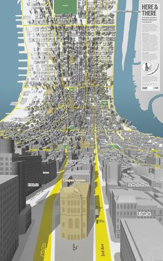 Here & There: Horizonless Projections of Manhattan posters and prints New York maps
