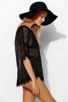 Kimchi Blue Lace Button-Back Top #urbanoutfitters