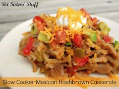 Slow Cooker Mexican Hashbrown Casserole - You probably already have these ingredients on hand!