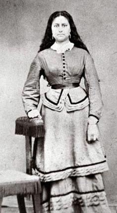 Jenny Meek-Newhard (the daughter of Virginia Meek and Joseph Lafayette Meek) - Nez Perce/Euro-American - no date or location