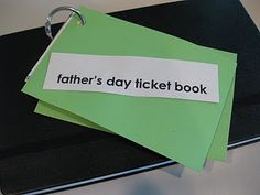 father's day gift --ticket book with all of his favorite things to do! #weteach
