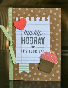 Stampin' Up! Birthday Card by Krystal's Cards and More: Hip Hip Hooray! Card Class
