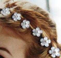 Springtime Flower Hair Swirls Twists  Spins or  by hairswirls1, $10.99