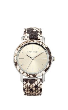 Snake print watch