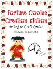 Super cute! Fortune Cookie Creation Station...Great writing/craft center for the classroom.