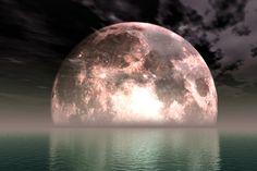 Rising moon. Magical.