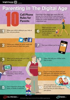 Parenting in the digital age means that cell phones are a fact of life for most moms and dads. Here are 10 Cell Phone Rules for Parents. #parenting #technology