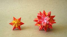 Origami Instructions: Sparaxis Star and Kusudama (Ekaterina Lukasheva)