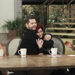 .@Jack Osbourne gives his mum @MrsSOsbourne a special hug on #TheTalk today! #hugitout RT