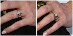 Kristen Bell's champagne diamond engagement ring