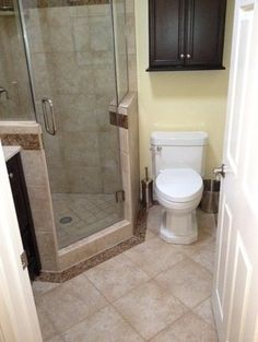 Small bathroom ideas on pinterest small homes small for Small full bath designs