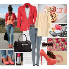 coral, created by sasskia on Polyvore
