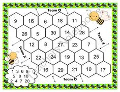 Addition Beehive Game from Elementary Adventure on TeachersNotebook.com -  (2 pages)  - Practice addition with this fun printable game for two players.
