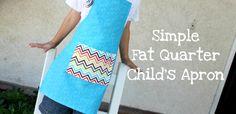 fat quarter child's apron tutorial. cute party favor idea for baking/cooking themed party. #apron
