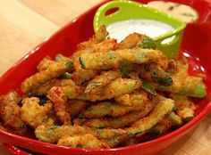 Crispy Chile Pepper Oven Fries with Ranch Dipper