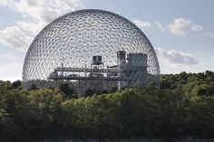 Montreal Biosphère, formerly US Pavilion for Expo67 by Buckminster Fuller, Montreal Quebec . Photographed by James Ewing