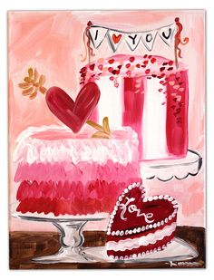 Personalized Valentines Day cakes and more for your sweetie* at Timree.com
