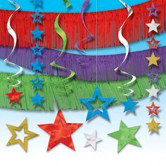 Da un toque especial a tu fiesta Angry Birds con este kit de decoración brillante y colorido - de www.fiestafacil.com, $26.80 / Give a special touch to your Angry Birds party decoration with this sparkly and colourful decoration kit from www.fiestafacil.com