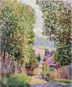 A Street in Louveciennes - Alfred Sisley