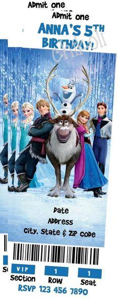 Disney Frozen Birthday Party Invitation