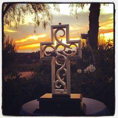 Gorgeous sunset with the Unity Cross. #unitycross #wedding #sunset #California #ocean #love #unityceremony