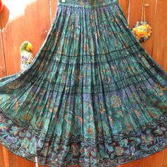 Vintage Hippie/Gypsy/Bohemian Indian Cotton Maxi Skirt. $38.00, via Etsy.