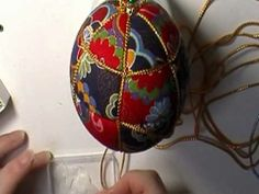 """Japanese Checkers"" Kimekomi Ornament"