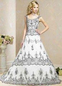 black wedding dresses pics