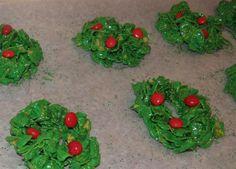 Corn Flake Holiday Wreaths my mom Lanita use to make these