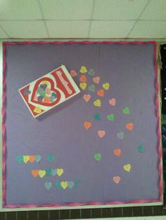 Valentines bulletin board.