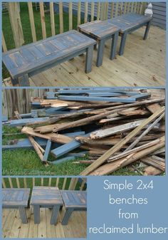DIY:  How To Build A Bench From Salvaged Wood.
