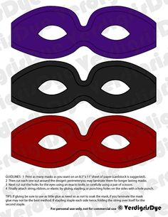 Super hero masks!