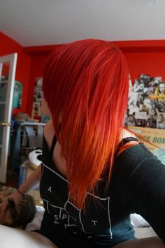 red to orange ombre