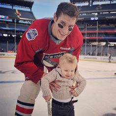 Dan Girardi & his son <3