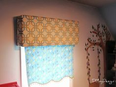 Cute idea for a window treatment from @DIYbyDesign using @Waverly fabric! #waverize