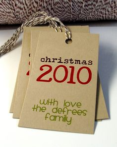 cute tags for neighbor gifts @ Cara - you must have some awesome neighbors!