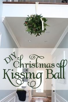 How to make a kissing ball. Costs almost nothing! | via www.viewalongtheway.com | #Christmas #kissingball