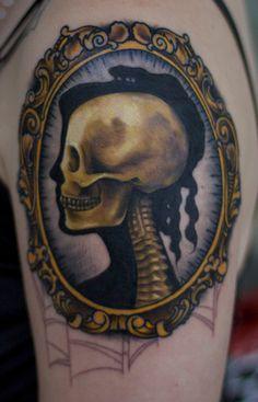 skull cameo #skull #cameo #tattoo