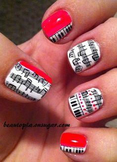 Musical nail art!